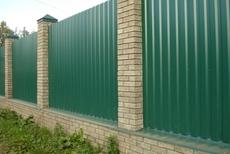 Забор из профнастила – защита и спокойствие